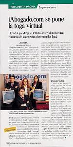 Reportaje en Actualidad Económica - 19/2/04
