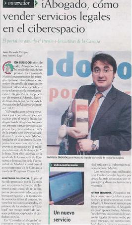 Reportaje en revista Cámara Madrid - febrero 2004