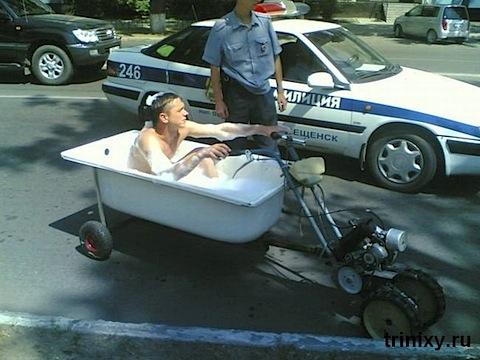 Foto: moto en Rusia
