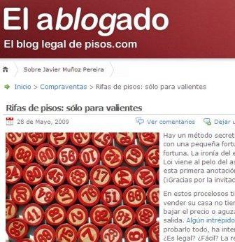 Captura del blog