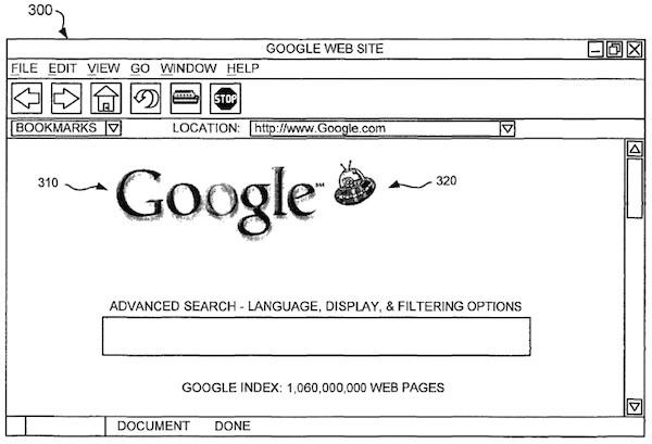 Patente del Doodle de Google